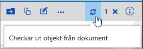 Utcheckningsmeddelande med markerad ikon
