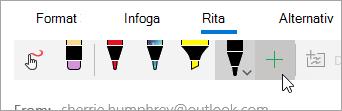 En skärmbild av knappen Lägg till penna