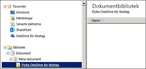 en mapp för mellanlagringsfiler som ska flyttas till Office 365