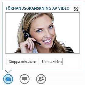 skärmbild med alternativen som visas om du hovrar på videoknappen