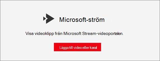 Microsoft Stream-webbdel