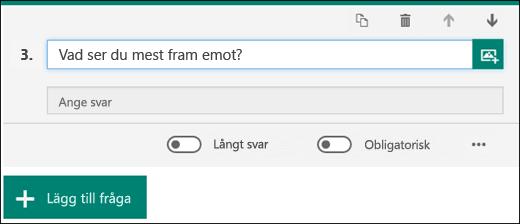 En textfråga i ett formulär