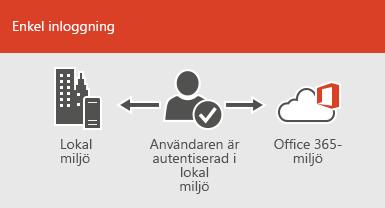 Med enkel inloggning är samma konto tillgängligt i både lokal miljö och online