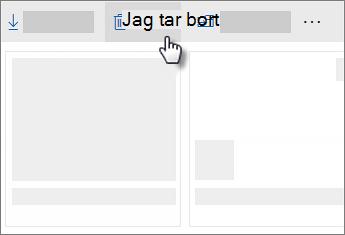 Skärmbild av att ta bort en fil i OneDrive