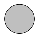 Visar en cirkelformad figur.