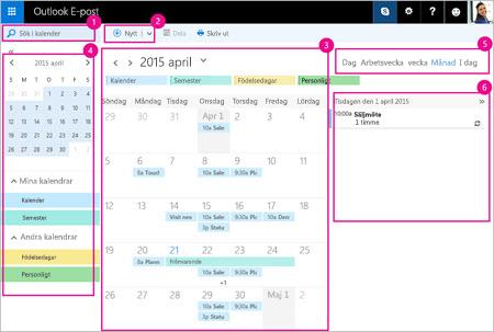 Använda kalendern för att hantera möten och andra händelser.