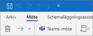 Lägga till ett Teams-möte i en inbjudan till ett möte i Outlook