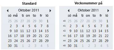 Datumbläddringen i Att göra-fältet med och utan veckonummer