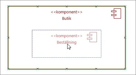 Lagerundersystem-form med orderkomponent dragen ovanpå