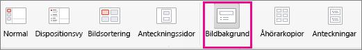 Kommandot Bildbakgrund i PPT för Mac