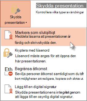 Skrivskydda presentationen