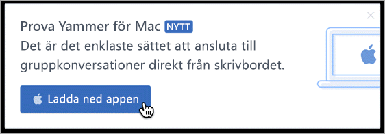Produkt messaging för Mac