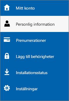 Uppdatera personlig information för administratör