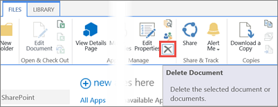 Ta bort ett program från biblioteket Program för SharePoint i programkatalogen