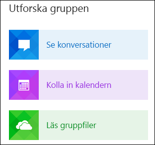 Utforska en grupp i Outlook