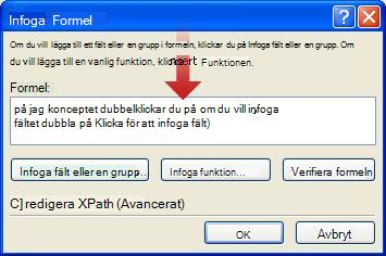 Dubbelklicka för att infoga ett bindestreck som en del av formulärnamnet