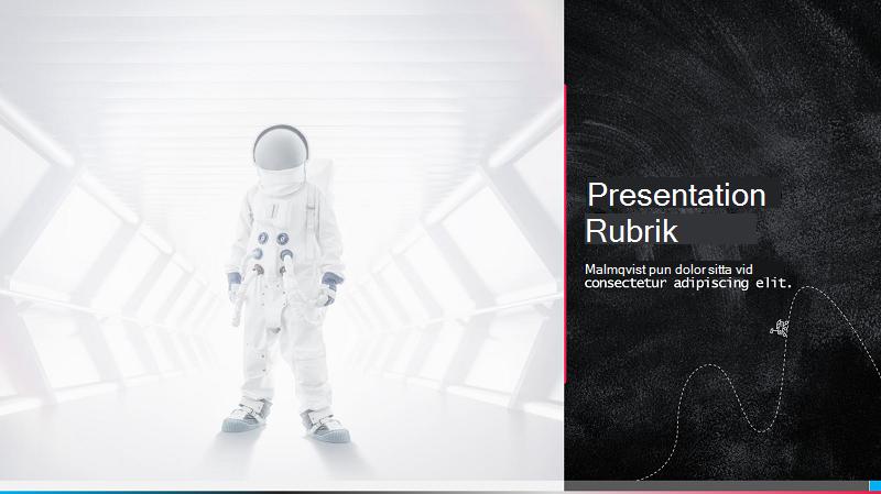 Skärmbild av ett omslag till en science fair-presentation