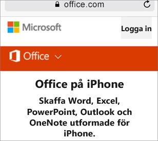 Gå till office.com