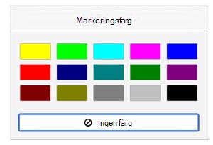 Markeringsfärger