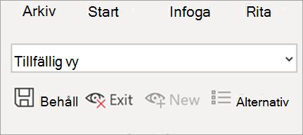 Visar bladvyn i Excel