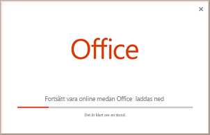 Förloppet för installation av Office-program