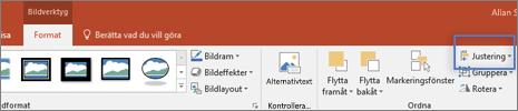 Bild av fliken Format under Ritverktyg