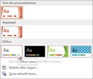 Välj Office-temat