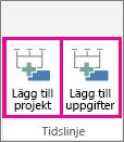 MultipleTimelines02 - Lägg till projektet