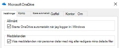 Så här inaktiverar du alla aviseringar för delade OneDrive filer går du till inställningar på din OneDrive-programmet och stänga av funktionen.