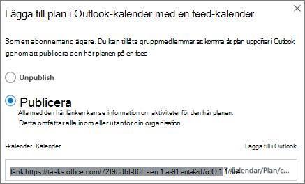 Skärmbild av programmet Lägg till dialogrutan kalender i Outlook