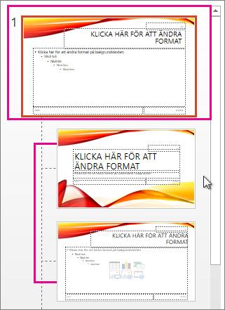 Bildbakgrund och två layouter