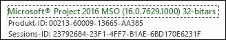Versionsnummer för Project Online-klient på stationär dator