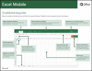 Snabbstartsguide för Excel Mobile