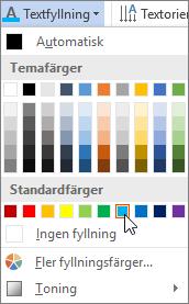 Välja en fyllningsfärg för text