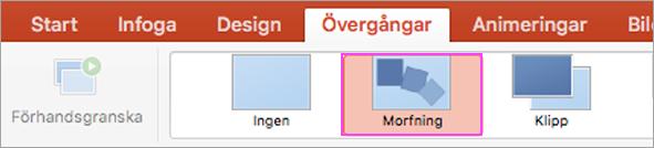 Flytande PowerPoint-övergångar med morfning.