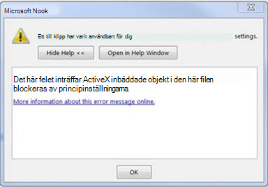 Fel i Outlook: