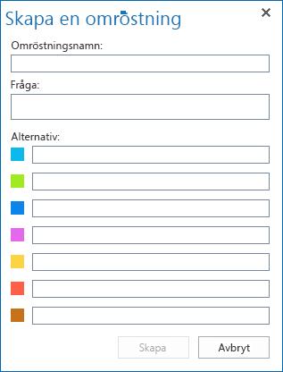 Skärmdump av Skapa en omröstning