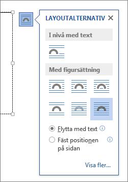 Layoutalternativ för textrutor