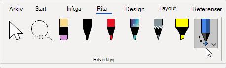 Välja pennan tecknings verktyget