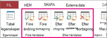 Lägg till händelsedrivna datamakron