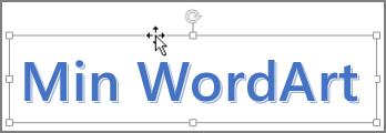 WordArt med en korspilsmarkör