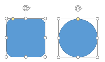 Använda omformningsverktyget till att ändra en figur