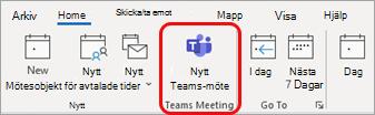 Nytt Teams-möte i Outlook