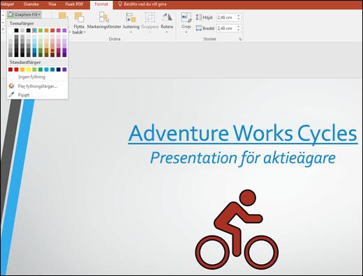 Ändra färg på SVG-bilden med verktyget Grafikfyllning