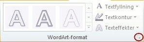 Bild av menyfliksområde i PowerPoint