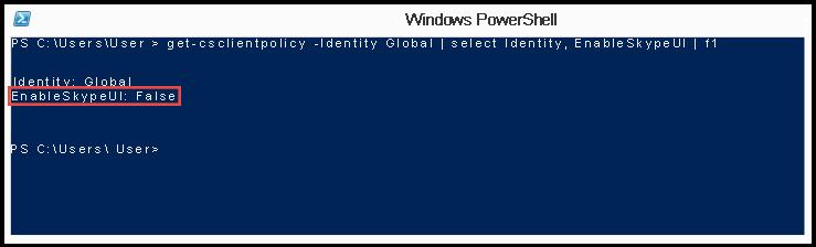 PowerShell: SkypeUIDisabled