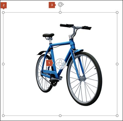 Ändra storlek på eller rotera 3D-modellen