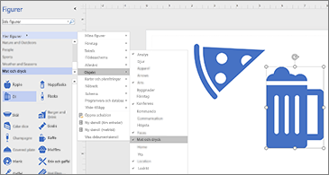 Diagram med två ikoner