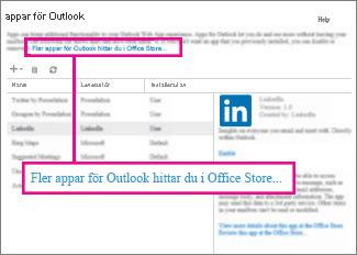 Hitta fler program i Office Store