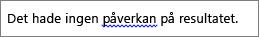 Möjligt språkfel markerat med en blå, vågig linje